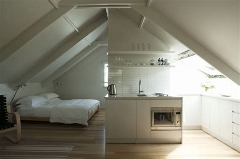 Smallspace Living An Airy Studio Apartment In A Garage