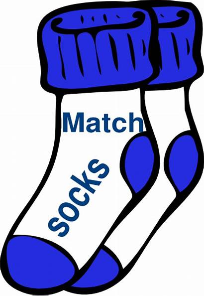 Socks Clip Match Clipart Cliparts Matching Chores