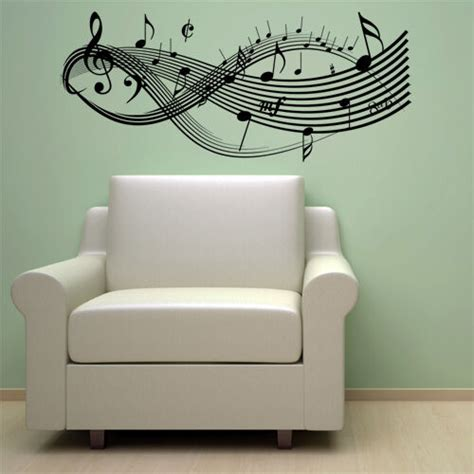 Note Wall Decor - clef notes vinyl wall decal sticker decor new ebay