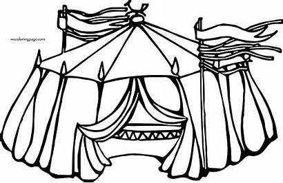 Circus Tent Coloring Mix Drawing Wecoloringpage Pages