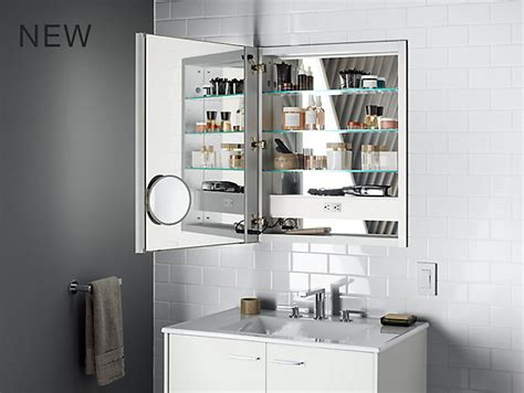 kohler lighted medicine cabinet k 99007 tl verdera lighted medicine cabinet 24 quot w x 30