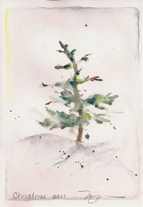little christmas tree water colors painting pinterest