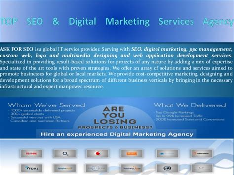 Digital Marketing And Seo Services by Top Seo Digital Marketing Services Agency