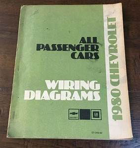 1980 Chevrolet All Passenger Cars Wiring Diagrams Service