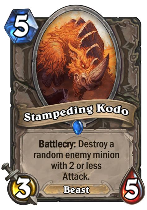 hearthstone beast deck 2014 steding kodo hearthstone card