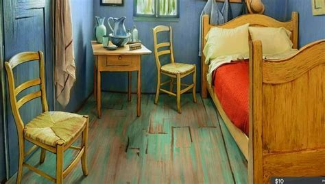 gogh bedroom painting institute of chicago uses airbnb to promote gogh
