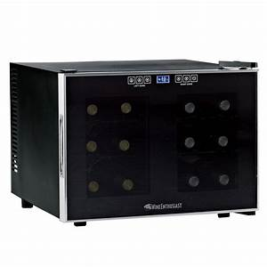 Wine Enthusiast 12-Bottle Dual Zone Touchscreen Wine ...