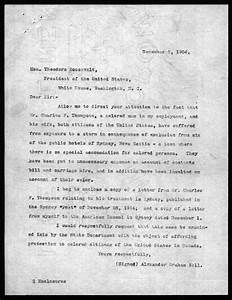 letter from alexander graham bell to theodore roosevelt With the letters of theodore roosevelt
