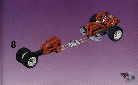Lego Slammer Racer Instructions 8237, Technic