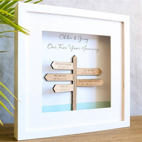 fifth wedding anniversary gift guide wooden gift ideas