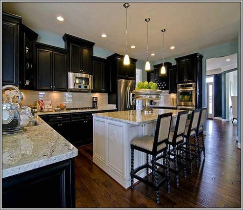 kitchen cabinets islands espresso kitchen cabinets with white island kitchen