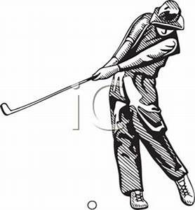 Golf Club Black and White Clipart | ClipArtHut - Free Clipart