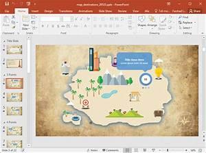 Animated Custom Maps Powerpoint Template