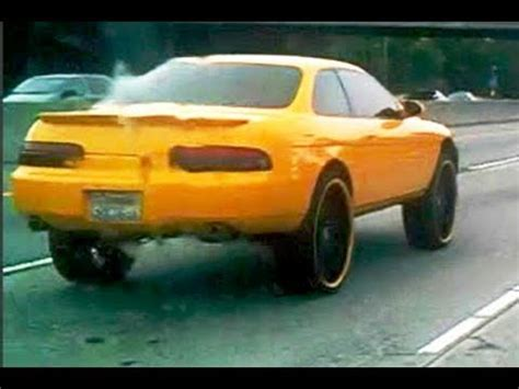 how big is a car big wheels massive rims on a small car fail youtube
