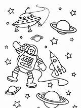 Astronaut Coloring Space Pages Outer Mission Preschool Worksheets Preschoolers Years Print Colored Popular sketch template