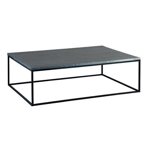 industrial metal coffee table deon industrial style pattern metal rectangle coffee table