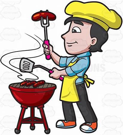 Clipart Grilling Grill Bbq Barbecuing Sausages Cartoon
