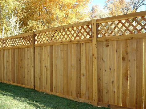 Decorative Garden Fence Menards by Menards Privacy Wood Fence With Lattice The Ashton
