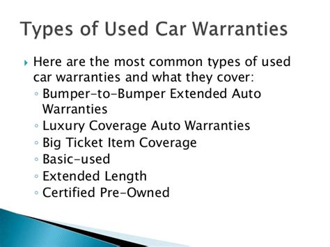 Practical Advice About New And Used Car Warranties