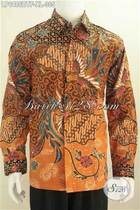 baju hem lengan panjang istimewa berbahan batik kombinasi