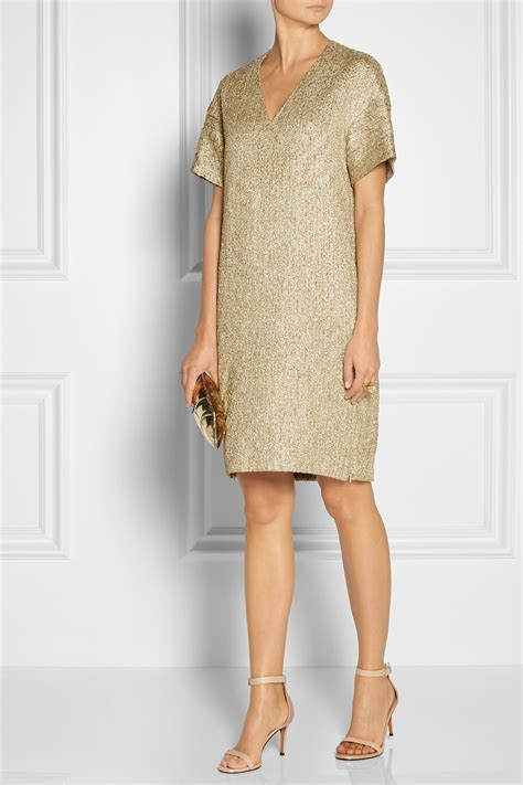 lyst  row peggy metallic jacquard tunic dress  metallic