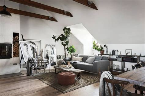 scandinavian homes build  perfect artists attic apartment