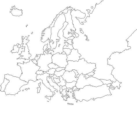 Carte Du Monde Vide A Completer by Carte D Europe Vierge A Remplir 187 Carte Du Monde