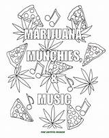 Coloring Weed Adult Marijuana Disegni Colorare Adults Munchies Cannabis Note Stoner Musica Maker Song Credit Save Clipart Email sketch template