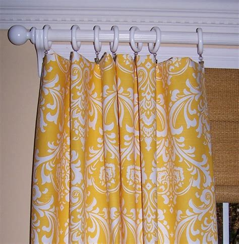 Yellow And White Curtains Etsy by Yellow Damask Curtains Premier Fabric By Cathyscustompillows