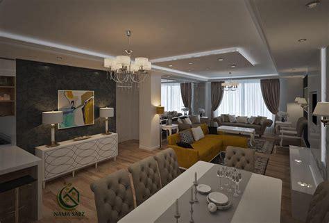 طراحی دکوراسیون داخلی مدرن واحد مسکونی ظفر شرکت