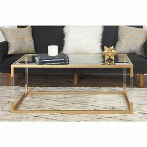 clear and metallic gold coffee table 56933 the home depot With clear and gold coffee table