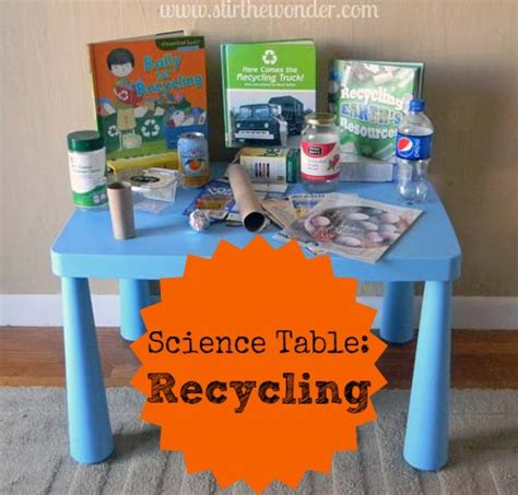 table activities for preschoolers science table recycling preschool science earth and