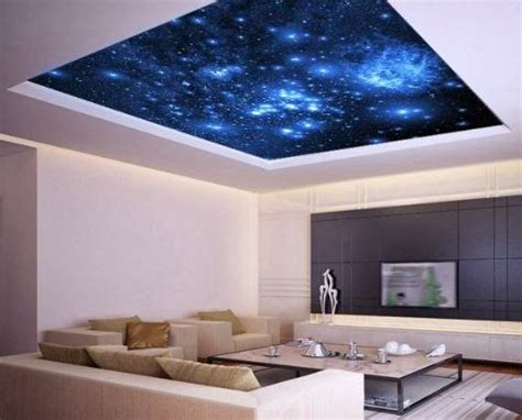 galaxy ceiling sticker false ceiling bedroom ceiling