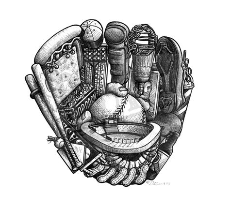 glove panicattacktattoo love  baseball tattoos