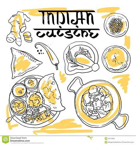 indian food stock illustration image 49715603