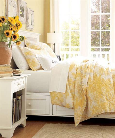beautiful white beds matine toile duvet cover sham marigold pottery barn sunshine yellow pinterest toile
