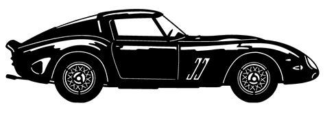 Download 10 ferrari car free vectors. Ferrari Silhouette