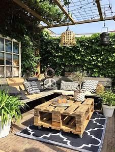 13 diy outdoor coffee table ideas With idee deco de jardin exterieur 11 deco maison orange