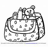 Diaper Baby Drawing Coloring Getdrawings Pic sketch template