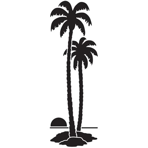dreamweaver tall palm trees stencil blue edge crafts