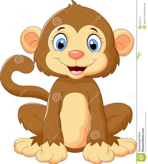baby monkey stock cartoondealer 41086957