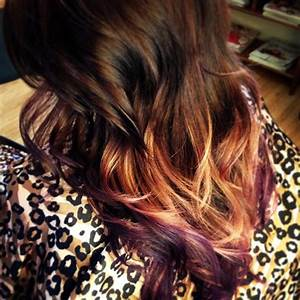 Fun Hair Color Ombre Purple Red Blonde My Style Pinterest