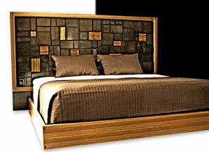 Bett Design Holz : kopfteil f r bett 46 super coole designs ~ Frokenaadalensverden.com Haus und Dekorationen