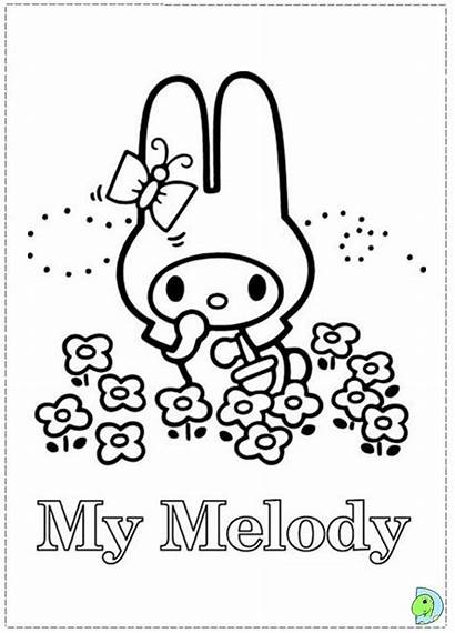 Coloring Melody Pages Kuromi Dinokids Mymelody Close