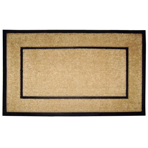 Doormat Frame by Nedia Home Dirtbuster Single Picture Frame Black 30 In X