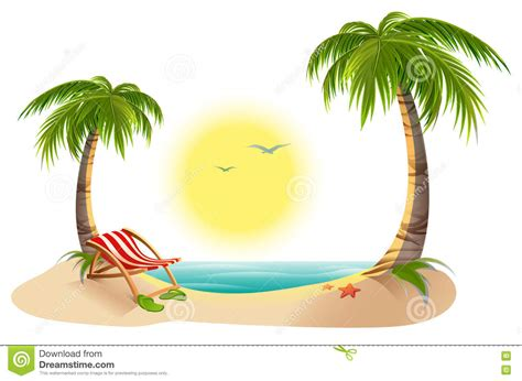 chaise de plage chaise longue stock illustrations vecteurs clipart 1 064