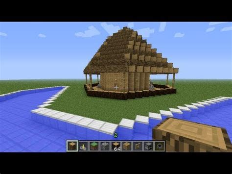 Tiki Hut Minecraft - minecraft building tutorials ep 1 tiki bar design 1