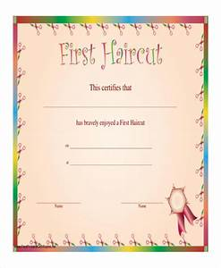 haircut certificate template 5 free pdf documents With my first haircut certificate template