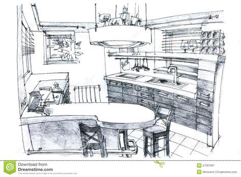 perspective cuisine dessin illustration de peinture de crayon d 39 une cuisine