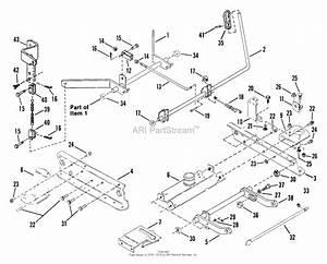 Snapper 411611bve 41 U0026quot  16 Hp Rear Engine Rider Series 11 Parts Diagram For 41 U0026quot  Rails  Lift Arms